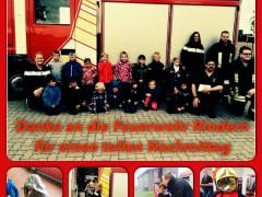 Bambinis besuchen Feuerwehr Rindern
