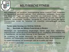 Neues Sportangebot: Militärische Fitness