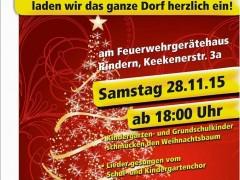 Weihnachtsbaum-Schmückaktion in Rindern