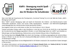 KidFit – Bewegung macht Spaß – Das Sportangebot des SV Rindern für Schulkinder