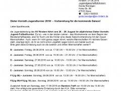 Dieter-Verrieth-Jugendturnier 26.-28.08.2016