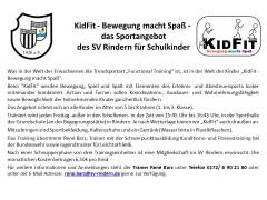 KidFit – das Sportangebot des SV Rindern für Schulkinder