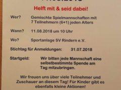 Gemeinsam für Emma! Benefizturnier am 11.08.2018